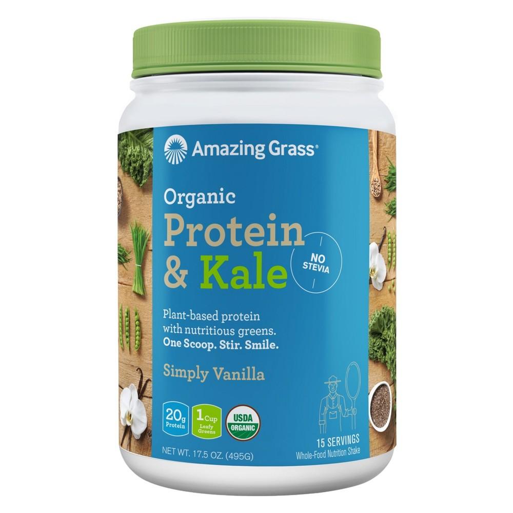 + Organic Protein & Kale Powder - Vanilla - 17.5oz