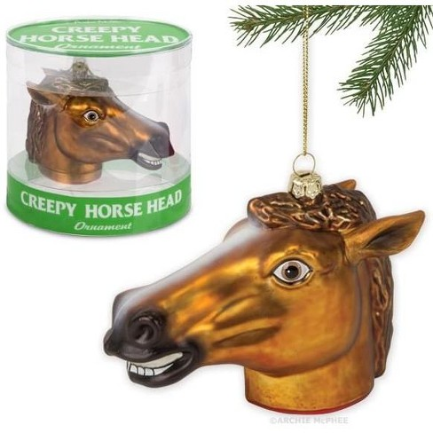 """Accoutrements Creepy Horse Head 4.5"""" Glass Holiday Ornament - image 1 of 2"""