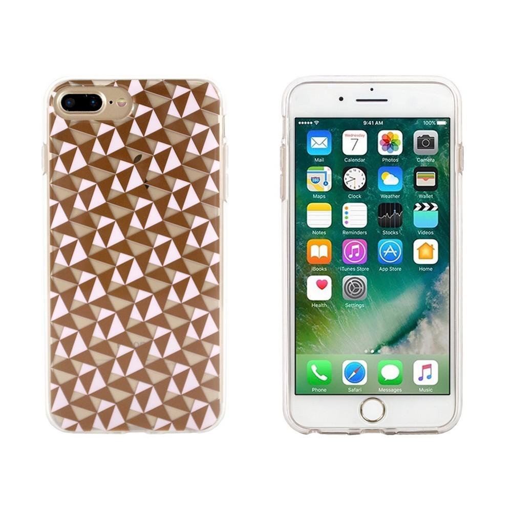 End Scene Apple iPhone 8 Plus/7 Plus/6s Plus/6 Plus Case - Pink Copper Geo