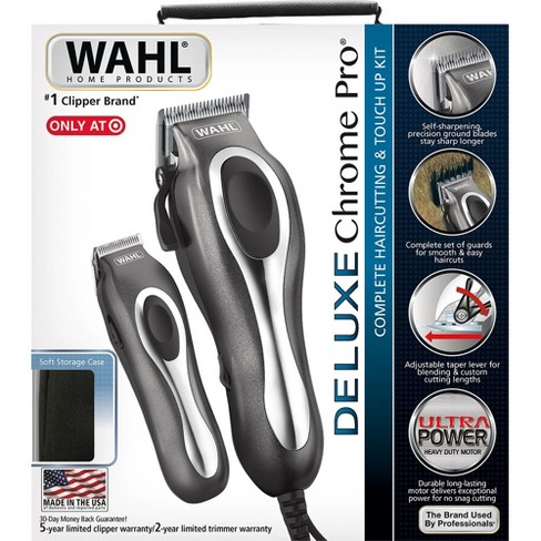 Wahl Deluxe Chrome Pro Complete Men s Haircut Kit With Finishing Trimmer    Soft Storage Case - 79650-1301 03f6c65197