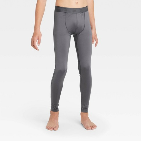 Boys' Fitted Performance Tights - All In Motion™ Gray L : Target