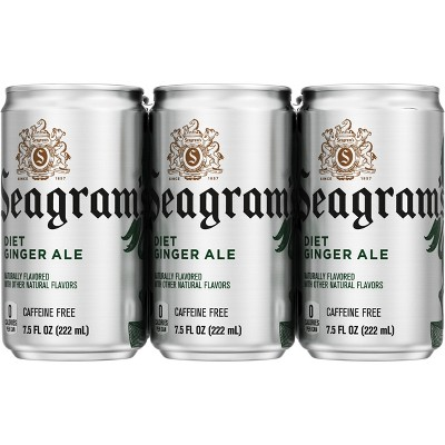 Seagram's Diet Ginger Ale Soda - 6pk/7.5 fl oz Cans