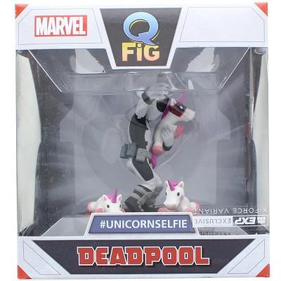 Quantum Mechanix Marvel 3.5 Inch Q-Fig Mini Figure | X-Force Deadpool Unicorn Selfie