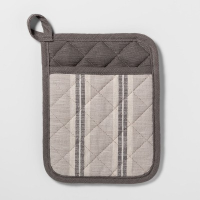 Gray Stripe Pot Holder - Threshold™