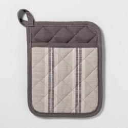 Stripe Pot Holder Gray - Threshold™