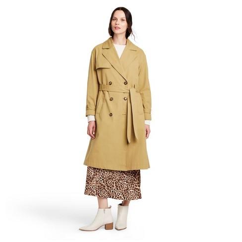 Women's Pleated Back Trench Coat - Nili Lotan x Target Khaki  - image 1 of 4