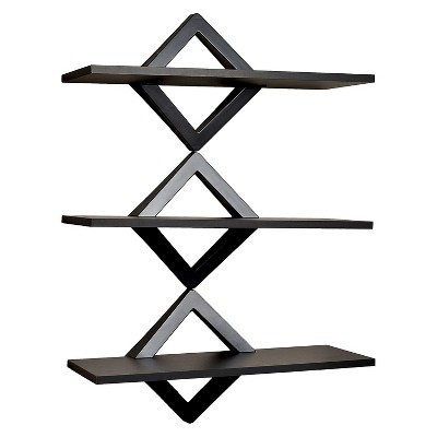 40  x 27.5  Three Tier Diamonds Shelving System Black - Danya B.