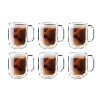 ZWILLING Sorrento Plus 6-pc Double-Wall Glass Coffee Mug Set
