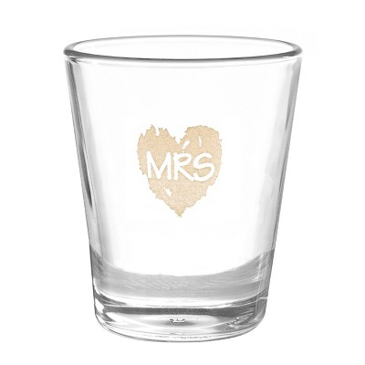 Mrs  Wedding Shot Glass