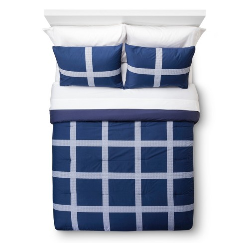 Linework Mini Plaid Comforter Set - Room Essentials™ - image 1 of 2