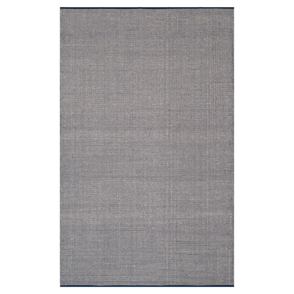 Ivory/Navy (Ivory/Blue) Stripe Flatweave Woven Area Rug - (6'X9') - Safavieh