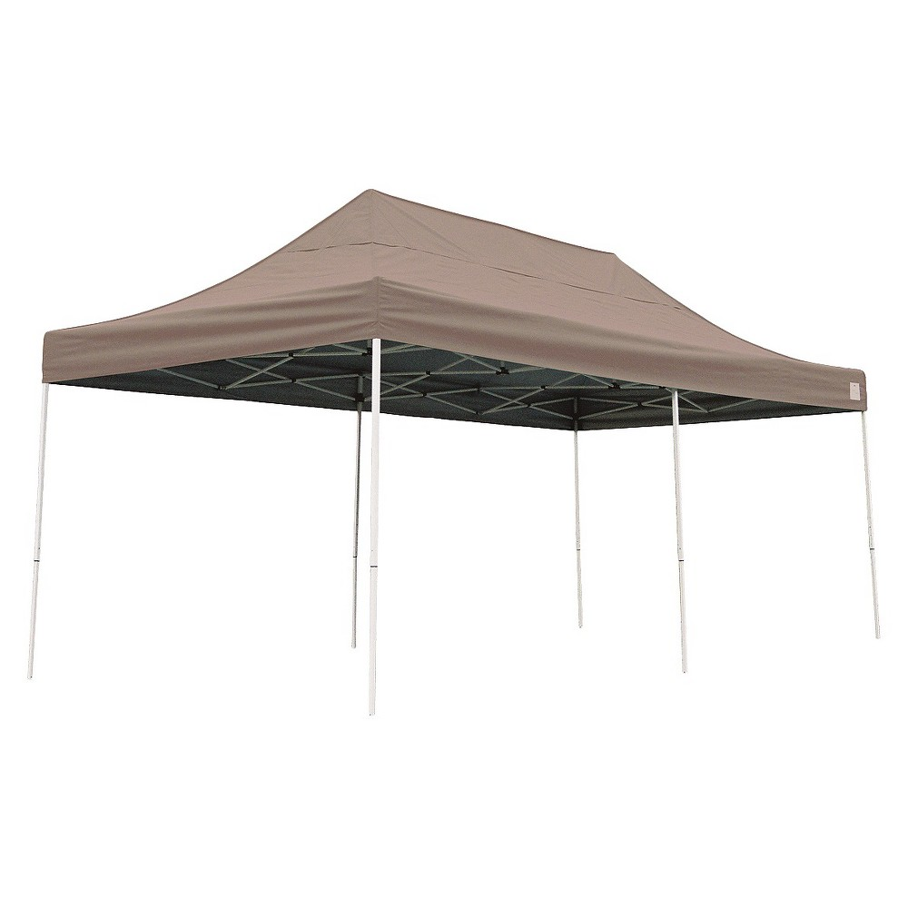 Shelter Logic 10' x 20' Pro Straight Leg Pop-Up Canopy - Desert Bronze, Dsrt Bronze
