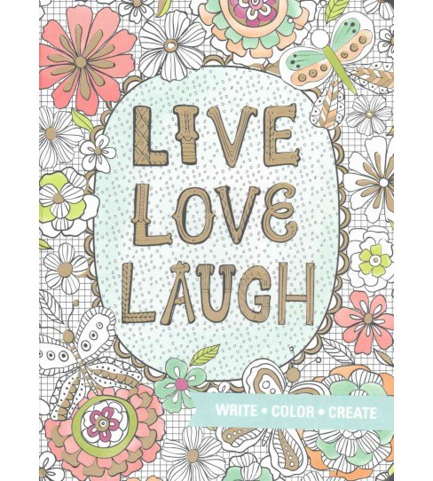 Live, Love, Laugh Coloring Journal (Notebook / blank book) - image 1 of 1