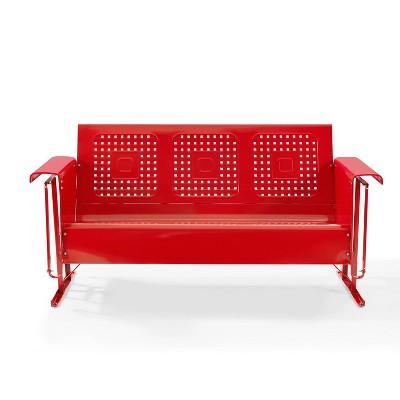 Bates Outdoor Sofa Glider - Bright Red - Crosley
