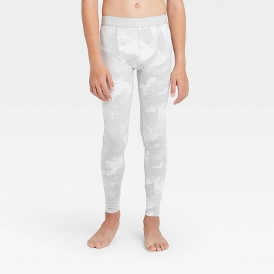 Boys' Fitted Performance Tights - All in Motion™ Light Gray XS