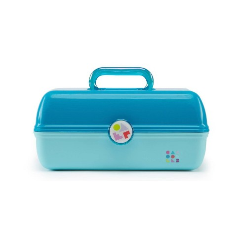 Caboodles On The Go Girl Makeup Bag - Turquoise over Sky Blue - image 1 of 4