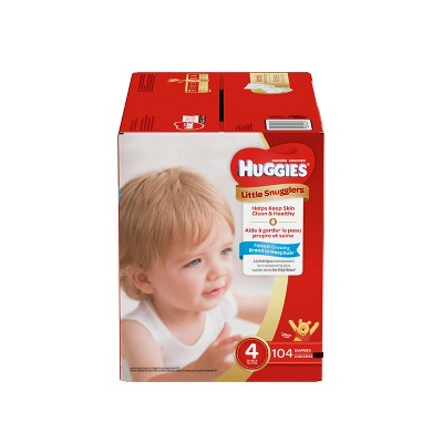 Huggies Little Snugglers Diapers - Size 4 (104ct)