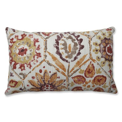 "18.5""x11.5"" Antique Stone Spice Lumbar Throw Pillow Purple - Pillow Perfect"