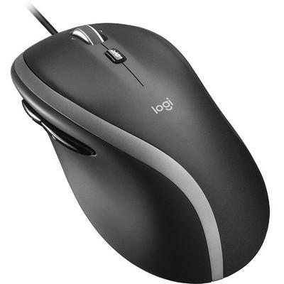 Logitech M500S Advanced Corded Mouse - Full-size Mouse - Optical - Cable - Black - USB - 4000 dpi - Tilt Wheel - 7 Button(s)