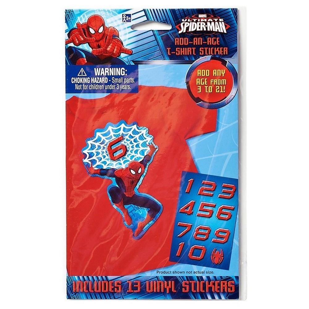 Spider-Man T-Shirt Sticker, Multi-Colored