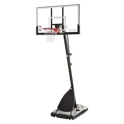 "Spalding NBA 54"" Acrylic Portable Basketball Hoop"