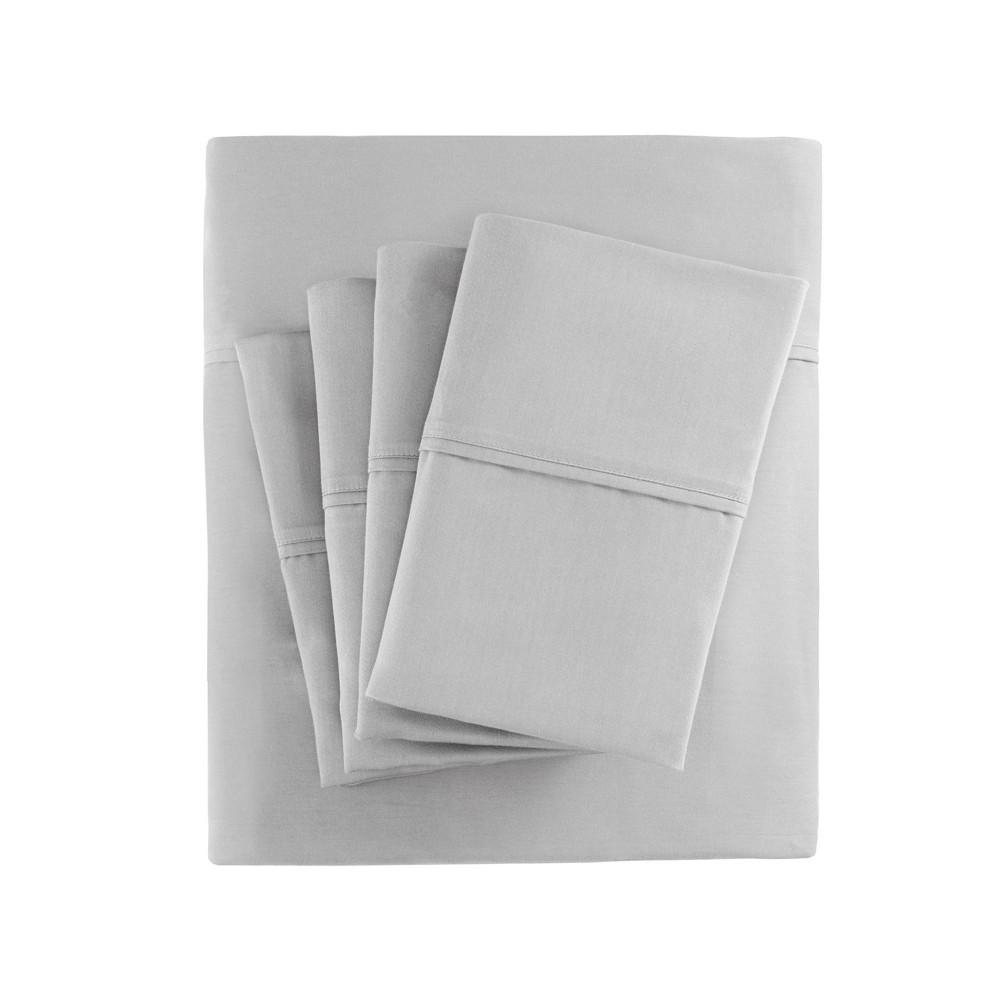 Cotton Blend 6pc Sheet Set 800 Thread Count California King Gray