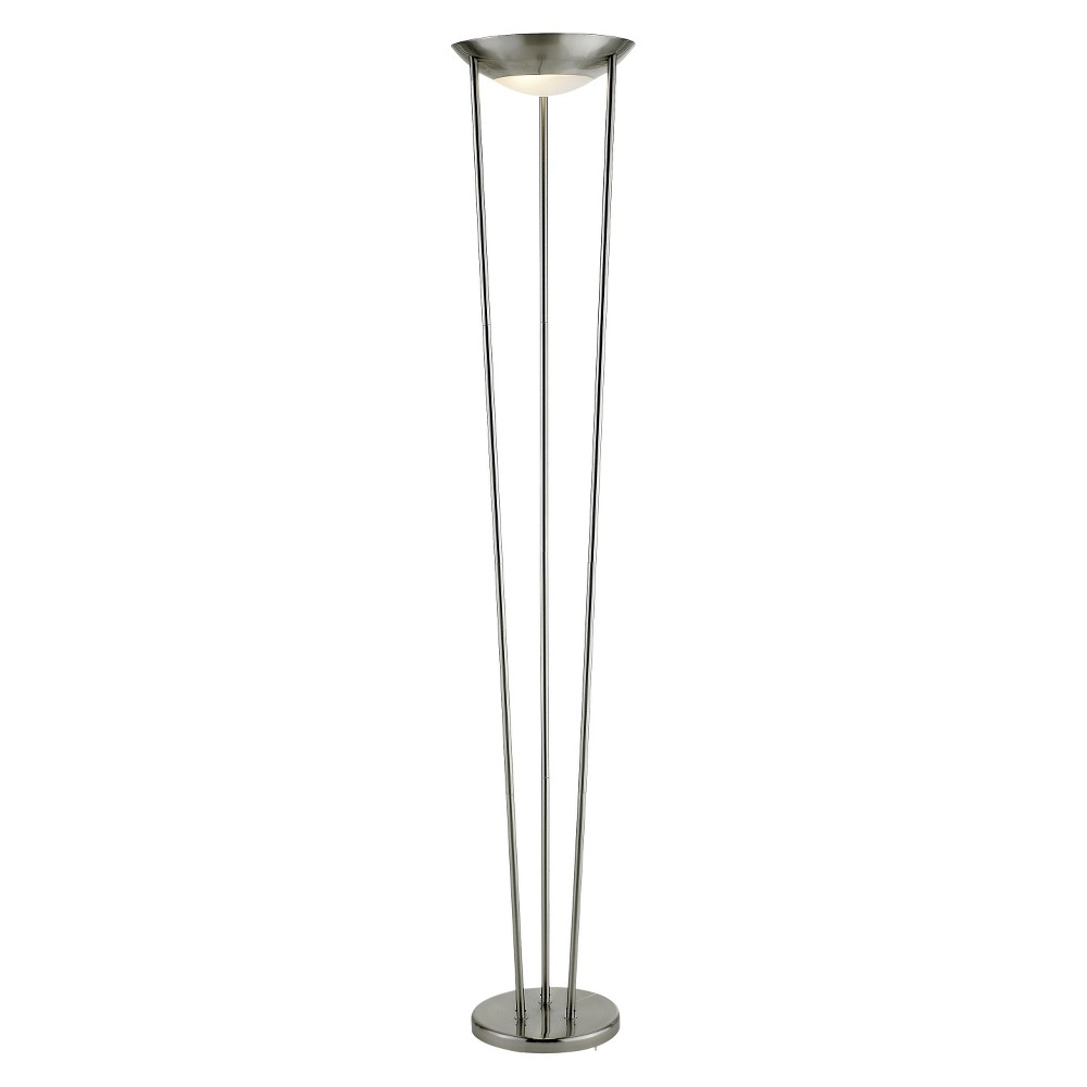 Image of Adesso Odyssey Tall Floor Lamp Silver