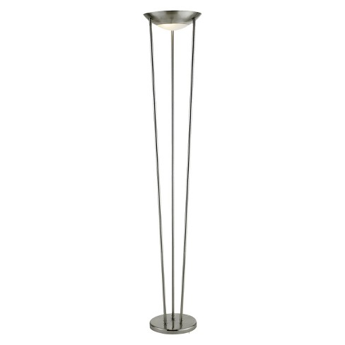 Adesso Odyssey Tall Floor Lamp Silver - image 1 of 1