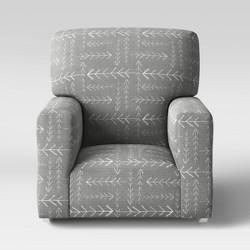 Kids Upholstered Rocking Armchair Gray Arrows - Pillowfort™