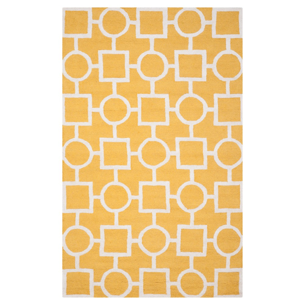 Sumner Texture Wool Rug - Gold / Ivory (5' X 8') - Safavieh, Gold/Ivory