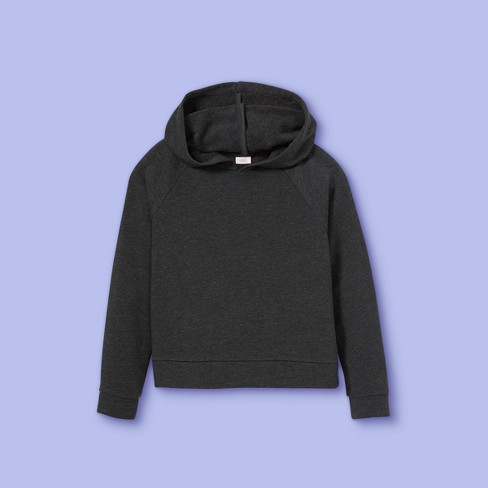 Girls' French Terry Hoodie - More Than Magic™ - image 1 of 2