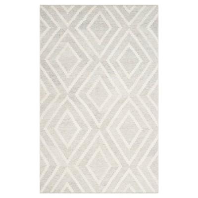 Zadie Area Rug - Silver/Ivory (4' X 6')- Safavieh