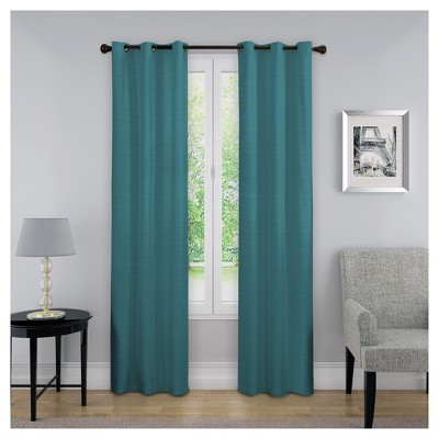 "63""x40"" Nikki Thermaback Blackout Curtain Panel Teal - Eclipse"