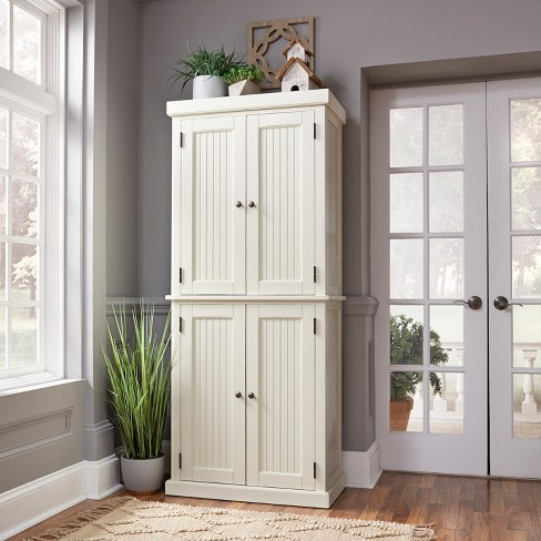 Nantucket 4 Door Pantry White Home Styles