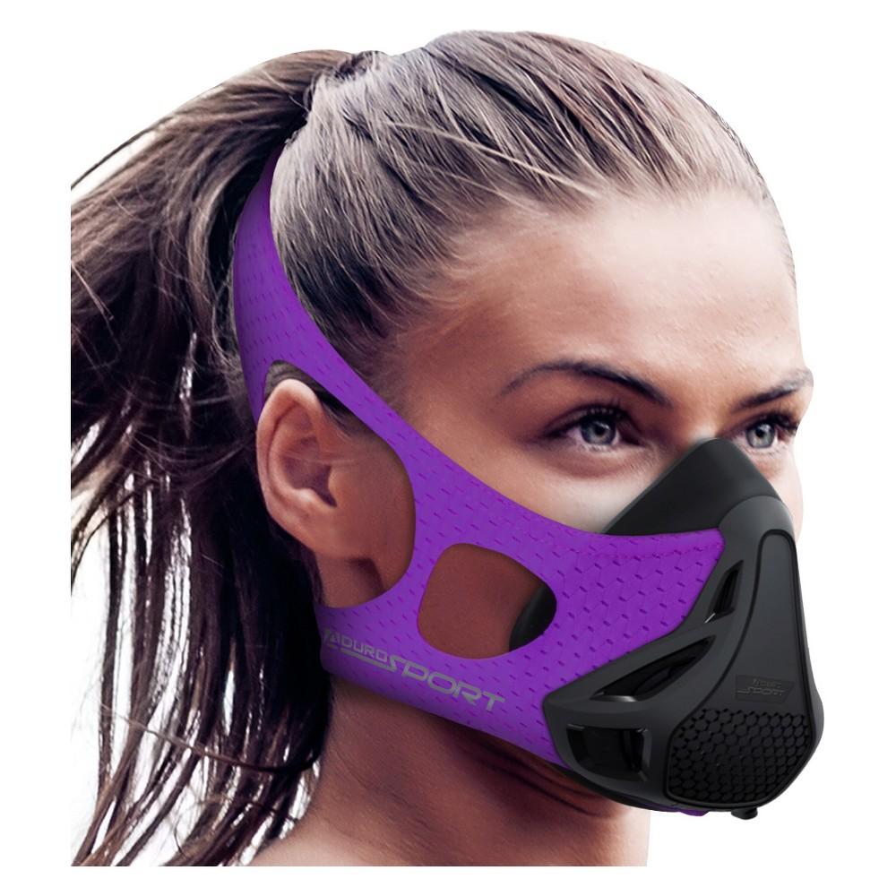Image of Aduro Sport Peak Resistance Female Workout Training Mask - Purple