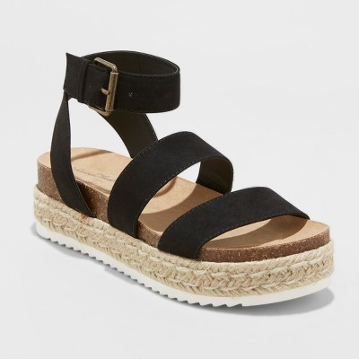 afd7f1742c89 Women s Agnes Wide Width Espadrille Sandals - Universal Thread™ Black 8.5W    Target