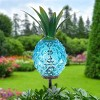 """29"""" Metal and Glass Solar Pineapple Garden Stake Blue - Exhart - image 3 of 4"""
