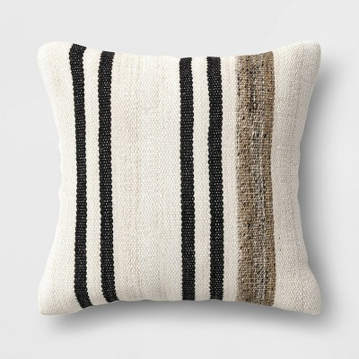 """20"""" Square Outdoor Throw Pillow Marled Stripe - Threshold™ designed with Studio McGee"""