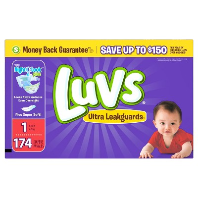 Luvs Value Pack Diapers - Size 1 (174 ct)