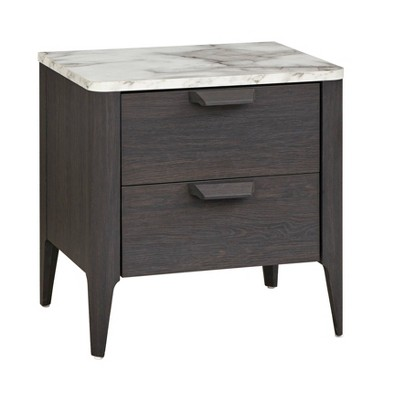 Keely Nightstand Charcoal Gray - Buylateral