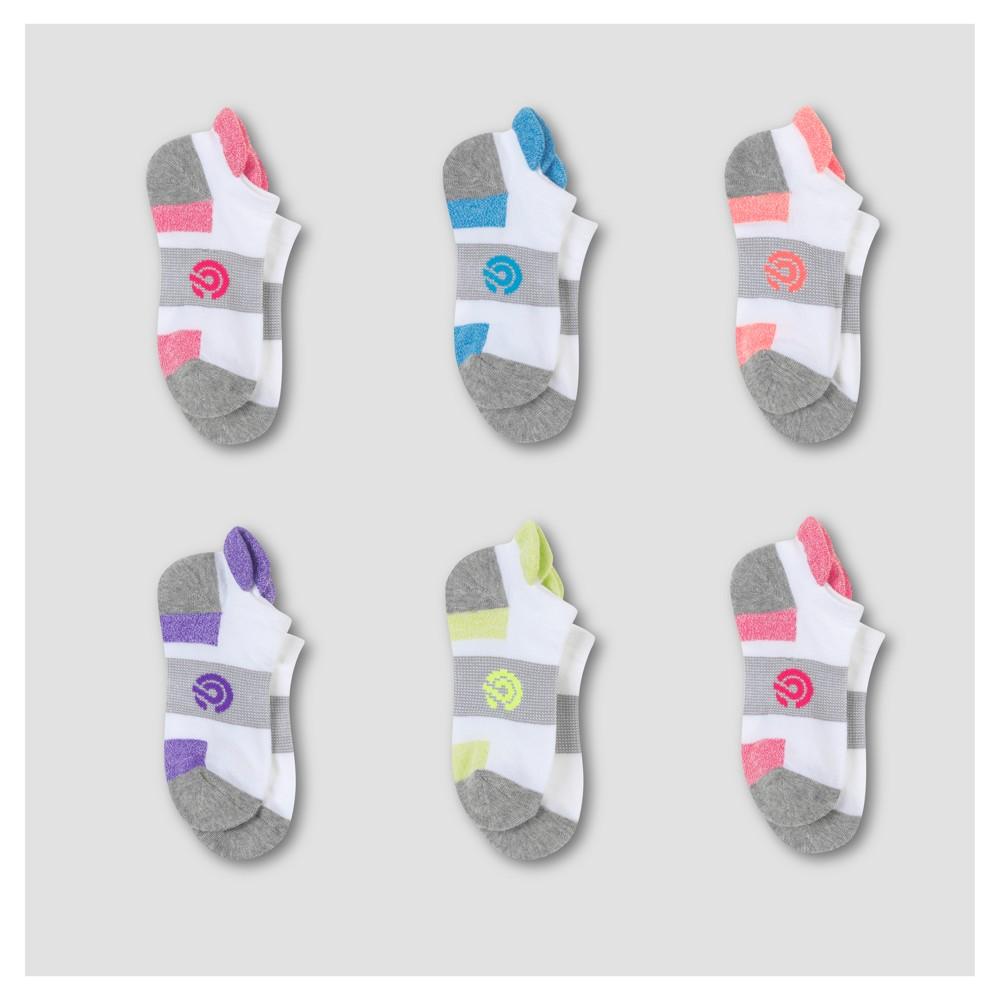 Kids' No Show Socks 6pk - C9 Champion Pink M, Kids Unisex, Multicolored