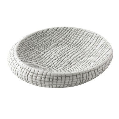 Cestino Soap Dish Gray/White - Cassadecor