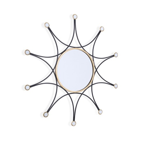 "Aiden Lane 36""x36"" Calara Decorative Wall Mirror Black - image 1 of 7"