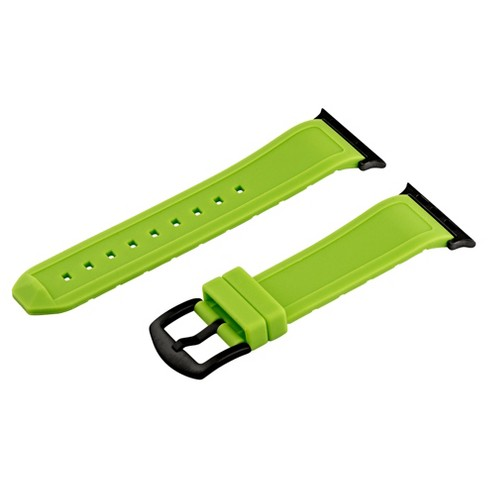 Clockwork Synergy Divers Silicone Apple Watch Band 42mm with Black Adapter - Lime Green - image 1 of 1