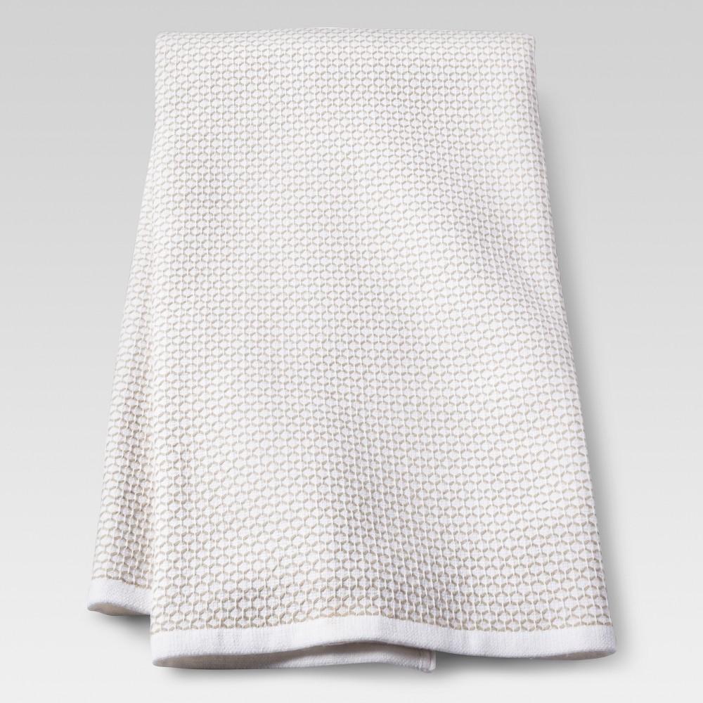 Image of Zig Zag Kitchen Towel White - Threshold