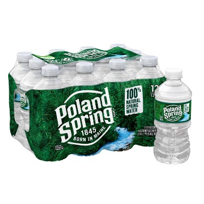 Poland Spring Brand 100% Natural Spring Water - 12pk/12 fl oz Bottles