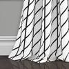 "Set of 2 52""x95"" Feather Arrow Geo Room Darkening Window Curtain Panels White/Black - Lush Décor - image 4 of 4"