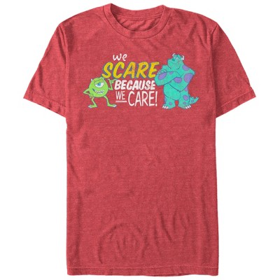 Men's Monsters Inc We Scare Because We Care Monsters T-Shirt