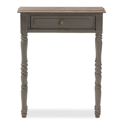 Noemie Country Cottage Farmhouse Finished 1 Drawer Console Table Brown - Baxton Studio : Target
