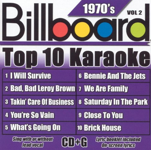 Sybersound karaoke - Billboard top 10 karaoke:1970's vol2 (CD) - image 1 of 1